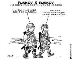 """Het zijn niet de officiele Russische namen,maar we moesten zelf lachen om """"Fukkov & Sukkov"""".... #poetin #oekraine pic.twitter.com/Ou3yp65Weo"""