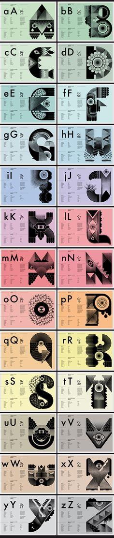 """Freaks est un alphabet créé à partir d'un catalogue de formes vectorielles et de dessins """"crayonnés"""".Sa création émane d'un processus de travail en deux temps au sein du studio : le stockage et la greffe.Stockage en tant que bibliothèque de travail d'an…"""