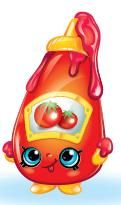 Tommy Ketchup (Shopkins 1-015, 1-024) Tommy Ketchup is a red bottle of ketchup. He has a green and red picture of tomatoes on his forehead. His variant is colored green and has a yellow and green picture of tomatoes on his forehead. Tommy Ketchup is a common Pantry Shopkin from Season One.