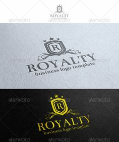 Buy Royalty Logo Template by djjeep on GraphicRiver. Royalty Logo Template – An excellent logo template highly suitable for Real Estate, leisure business, fashion and clo. Real Estate Logo Design, Crest Logo, Beauty Logo, Home Logo, Letter Logo, Logo Nasa, Business Logo, Logo Templates, Royalty