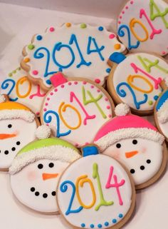 A custom cookie decorator and cooking class instructor . Insightful cooking and baking instruction by an award winning teacher. Candy Cookies, Cut Out Cookies, Cookie Desserts, Sugar Cookies, Cookie Recipes, New Years Cookies, Work Meals, Christmas Sweets, Custom Cookies
