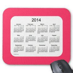 Lipstick Pink 2014 Calendar Mousepad Design from Love Shack