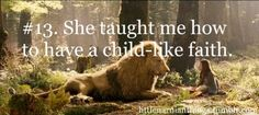 Lucy, lessons from Narnia