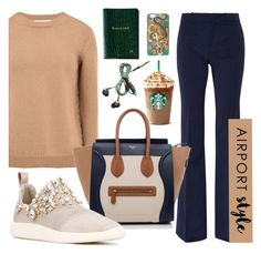 """Airport style"" by littlethingz ❤ liked on Polyvore featuring Gucci, Valentino, CÉLINE, Giuseppe Zanotti, Kreafunk and Graphic Image"