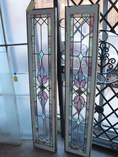 Stained Glass Entrance Sidelights.