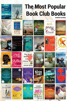Check out this list of popular book club reads from the past decade. #books #bookclub #bookclubbooks Book Club Reads, Book Club Books, Books To Read, The Kite Runner, Elizabeth Gilbert, Most Popular Books, Historical Fiction, Memoirs, Nonfiction