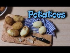 ▶ EASY; Realistic Miniature Potatoes - Polymer Clay Tutorial - YouTube