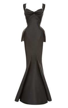 Shop Mikado Duchess Gown by Zac Posen for Preorder on Moda Operandi