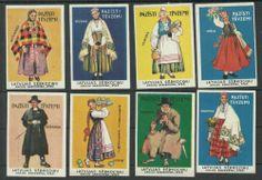 Latvia 1955 Year Matchbox Label Latvian Folk Costumes | eBay