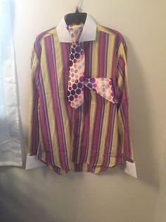 7cd8ba0ad4 Details about HENRI PICARD MEN S Easter Dress Shirt Set Tie