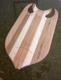 How to easily make beautiful butchers block tropical fish shaped cutting boards. FREE step by step instructions. www.DIYeasycrafts.com