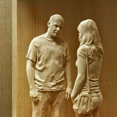 Italian artist Peter Demetz has a gift for breathing life into wood, a material that seems hard and lifeless to most of us. His wooden sculptures of people are flawlessly life-like...