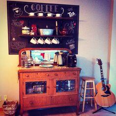 Our coffee bar! Love!