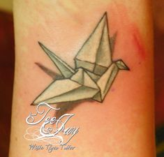 teeny tiny tattoos | Teeny Tiny Paper Crane – Tattoo Picture at CheckoutMyInk.com