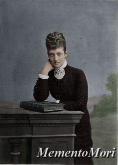 "Princess Alexandra Caroline ""Alix"" (Alexandra Caroline Marie Charlotte Louise Julia) (1844-1925) Denmark.  Wife of Albert Edward (King Edward VII) (1841-1910) Prince of Wales, UK. 2nd Child of King Christian IX (1818-1906) Denmark & Princess Louise (1817-1898) Hesse-Kassel, Germany."