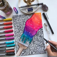 Art Drawings Sketches Simple, Colorful Drawings, Space Drawings, 3d Pencil Drawings, Flower Drawings, Mandala Art Lesson, Mandala Artwork, Easy Mandala Drawing, Small Canvas Art