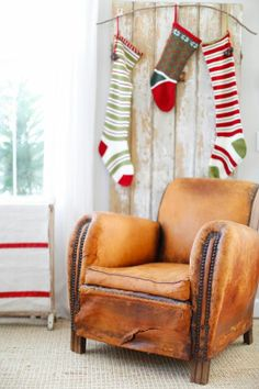 DustyLu: A White Christmas Antique French Leather chairs in the perfect honey color. Christmas 2014, Winter Christmas, Merry Christmas, Xmas, Birth Of Jesus Christ, Advent Season, Honey Colour, Silent Night, Merry And Bright