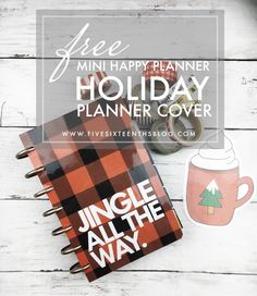five sixteenths blog: Freebie Friday // Printable Buffalo Plaid Mini Happy Planner Cover