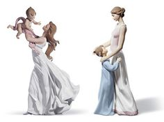 child figurines | Mother and Child by Lladro | Spanish Figurines