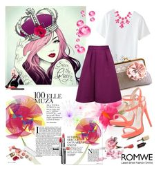 """Romwe t-shirt"" by irinavsl ❤ liked on Polyvore featuring Ted Baker, River Island, Chanel and INIKA"