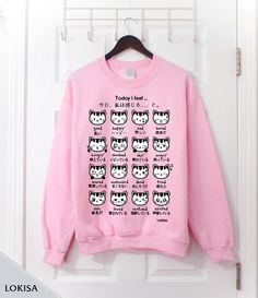 Hey, I found this really awesome Etsy listing at https://www.etsy.com/listing/178551125/japanese-kitty-emoticon-crewneck
