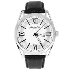 Black Leather Analog Watch | Shopdeca