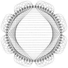 Diagram of 384 Relationships between I Ching Hexagrams