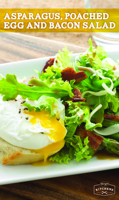 egg and bacon salad recipe asparagus poached egg and bacon salad ...