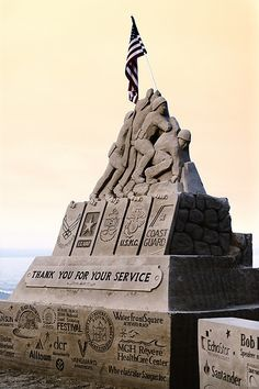 Sand sculpture | Iwo Jima Veterans Sculpture. ** This is a labour of love.