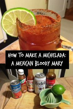 How to make a michelada, a spicy Mexican bloody mary beer cocktail
