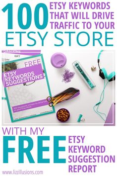 Do you struggle to get views on your Etsy Store. This report contain 100 Etsy Shop keywords and tags that will drive traffic to your etsy shop. Take the stress and time out of Etsy SEO with this FREE report! Selling Crafts Online, Craft Online, Make Money From Home, Make Money Online, How To Make Money, Own Your Own Business, Starting Your Own Business, Etsy Business, Business Branding