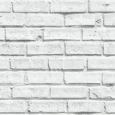 Arthouse White Brick Wallpaper - 623004..quite liking this for the kitchen maybe/utility room