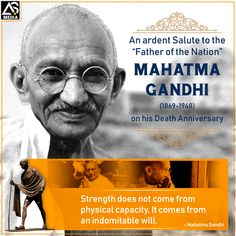 On Martyrs' Day, We gratefully remember Mahatma Gandhi who sacrificed for our Independence. Mahatma Gandhi, Physics, Advertising, Father, Branding, Digital, Day, Pai, Physique