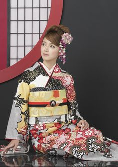 FL-3401:古典 Japan Trad Japanese Costume, Japanese Kimono, Japanese Girl, Japanese Outfits, Folk Costume, Japanese Beauty, Yukata, Japan Fashion, Costumes For Women
