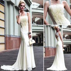 Duoliqi partido del vestido vestido de novia vestido de programa de... ($215) via Polyvore