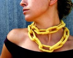 Little Purls knitted chain necklace