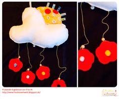 Spieluhr Mobile Nähanleitung Schnittmuster, diy, Babyausstattung, Baby, Ebook, Anleitung, Tutorial, Regenbogen, rainbow, sewing, Regenbogenwolke, nähen