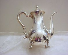 Vintage Sterling Silver Teapot 1 1/2 Pint Gorham NICE by Zeppola, $450.00