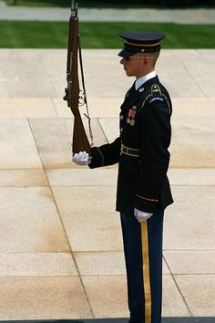 Tomb of the Unknown Soldier. Unbelievable precision and dedication. God Bless our Military and God Bless America, Land that I love. Stand beside her, and guide her Thru the night with a light from above. From the mountains, to the prairies, To the oceans, white with foam God bless America, My home sweet home.