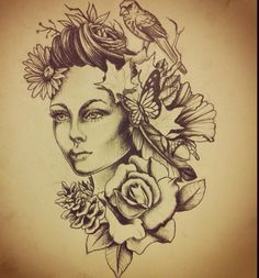 Mother Nature tattoo idea illustration