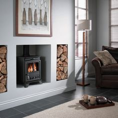Camborne Deluxe Compact multi fuel stove - The Camborne Deluxe Compact takes traditional stove features and styling combined with modern, clean lines and innovative features and fits them into a stove to suit a smaller fireplace or room.