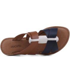 Rasteira Tiras Cruzadas Azul Leather Sandals Flat, Leather Shoes, Leather Men, Leather Slippers For Men, Mens Slippers, Sandals Outfit, Shoes Sandals, Sandalias Teva, Foldable Shoes