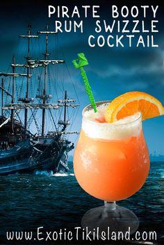 Pirate Booty Rum Swizzle Cocktail | Exotic Tiki Island - ETI Podcast & ETI RADIO