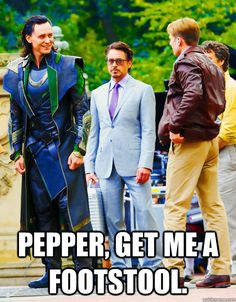 That's what you get when you're standing next to a Frost Giant and a genetically enhanced man.