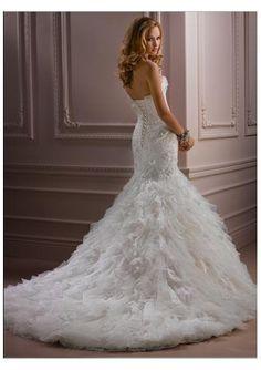 WOW - Tulle Strapless Mermaid Wedding Dress