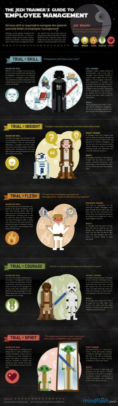 New Summer Camp Training paradigm? Jedi Training Guide to Employee Management infographic #BroPin