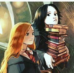 Lily Potter (enfin qu'en elle est mariée) et Severus Rogue. Harry Potter Tumblr, Harry Potter Fan Art, Harry Potter Anime, Rogue Harry Potter, Snape Harry Potter, Mundo Harry Potter, Cute Harry Potter, Harry Potter Drawings, Harry Potter Ships