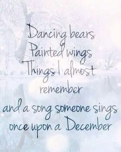 Once Upon a December, from Anastasia. This song is so special to me...I always sing it to my girls.