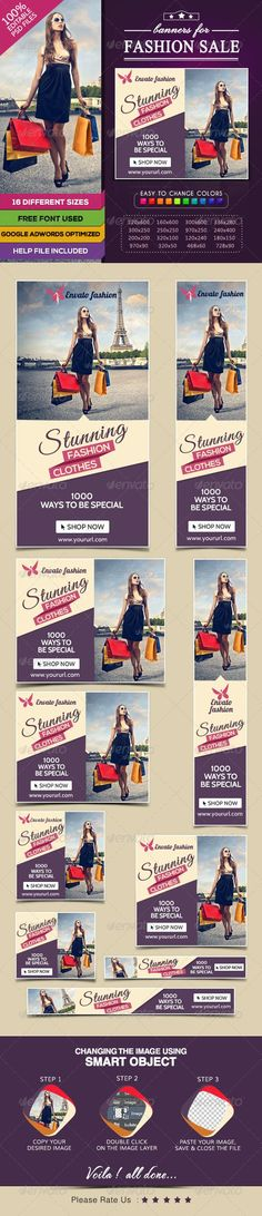 Fashion Sale Banners Template PSD   Buy and Download: http://graphicriver.net/item/fashion-sale-banners/7809125?WT.ac=category_thumb&WT.z_author=BannerDesignCo&ref=ksioks: