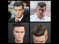 Gareth Bale Inspired Haircut Tutorial - TheSalonGuy - YouTube